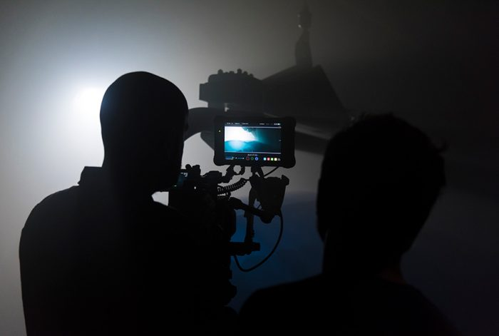 backstage d'une vidéo d'entreprise pour Poma