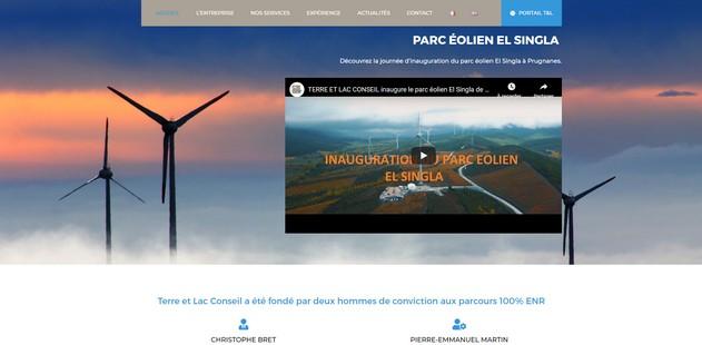 capture d'écran du site terre et Lac