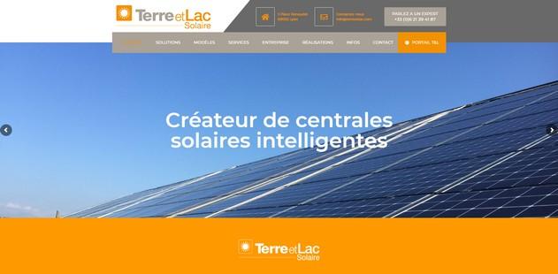 capture d'écran de la page d'accueil du site terre et Lac