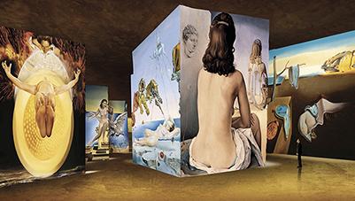 Exposition immersive de Dali à la carrière des lumières