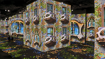 Exposition immersive de Gaudi à la carrière des lumières