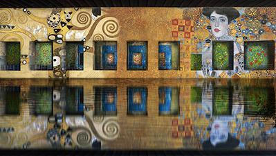 Exposition immersive de Klimt aux bassins de Lumières