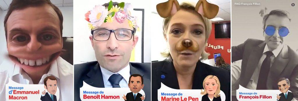 Stories Snapchat des politiques sur les réseaux sociaux