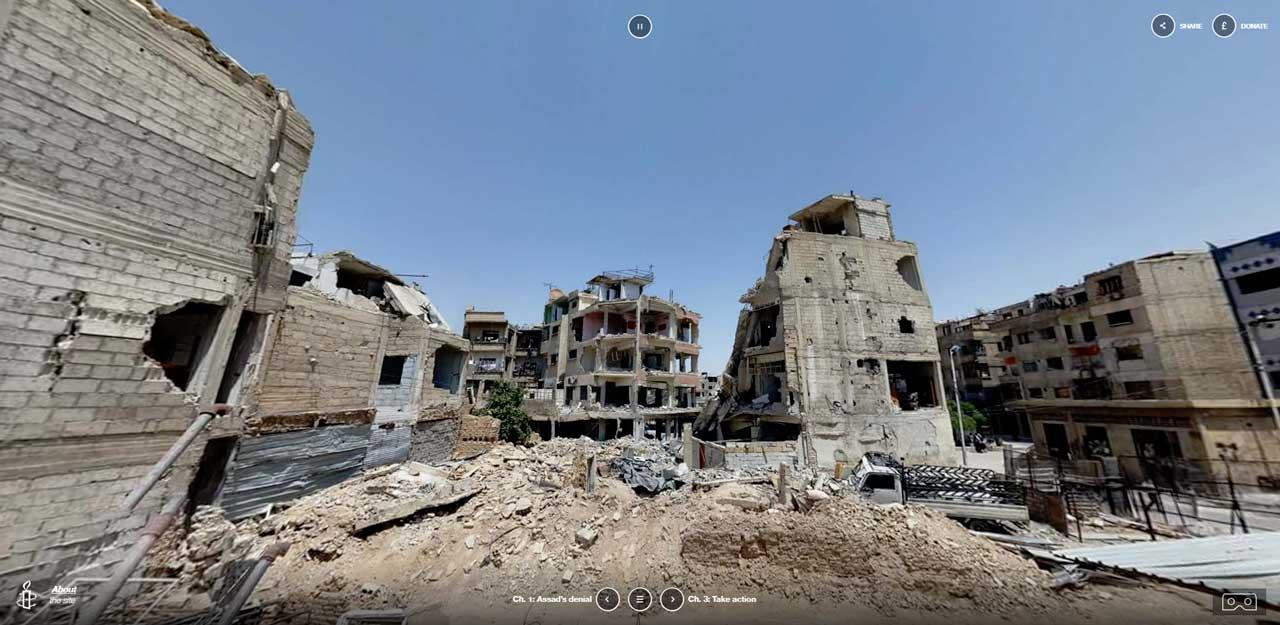 vidéos 360° en Syrie