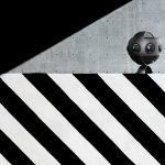 camera vidéo 360° dans un univers urbain