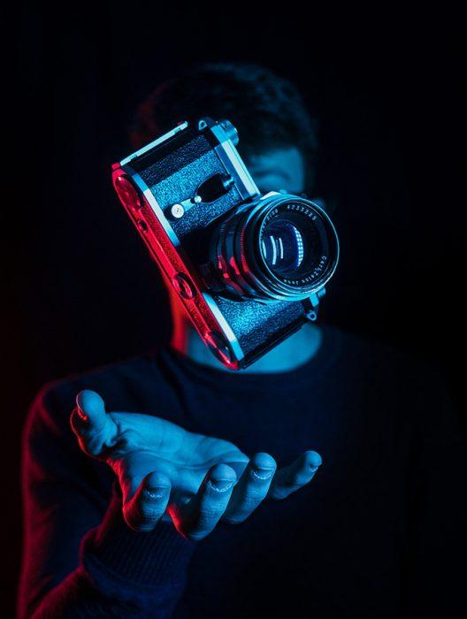 appareil photo en élévation