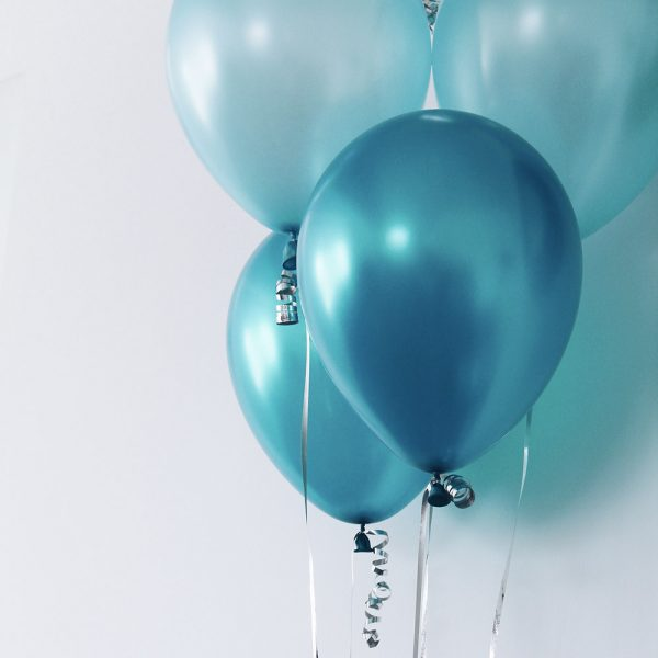 ballon bleu de fête