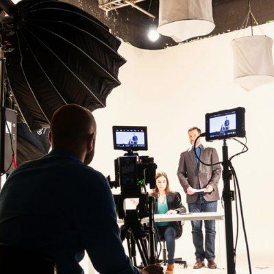 backstage d'une vidéo d'entreprise pour Gattefossé
