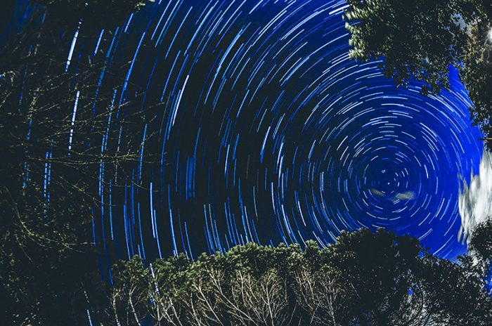 vue 360° d'un ciel étoilé