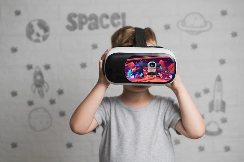 enfant réalisant l'expérience VR Let's Dream