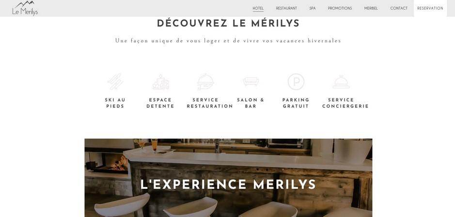 capture d'écran du site Merilys