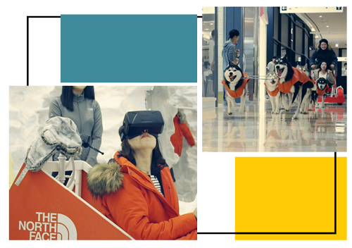 retail immersif de North Face où l'expérience en réalité virtuelle devient réelle.